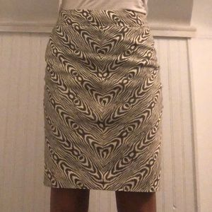 Zebra/wood print pencil skirt